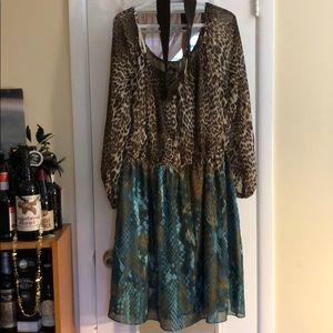 Marina leopard print dress